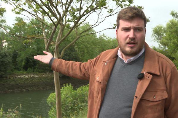 Tom Dubois a secouru un migrant qui se noyait dans la Bidassoa le 22 mai dernier.