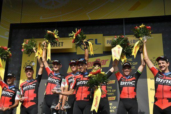La formation BMC s'offre cette 3ème étape du Tour