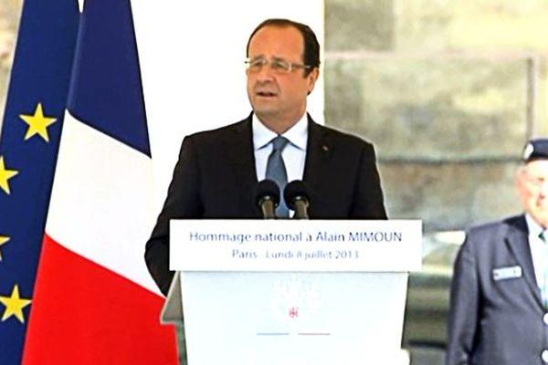 Hollande: éloge à Mimoun, lundi 8 juillet 2013