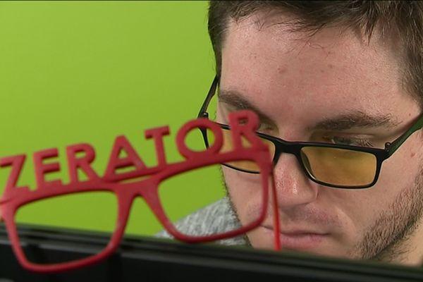Le célèbre streamer et gamer montpelliérain Adrien Nougaret, alias Zerator