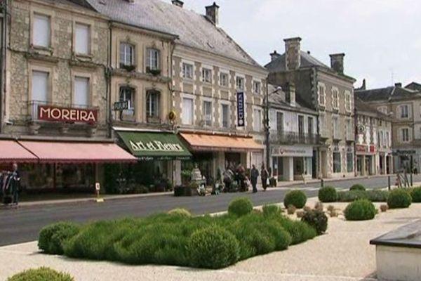 Les coureurs contre Alzheimer sur la ligne de départ à Chauvigny (86).
