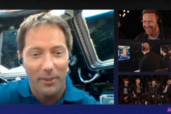 Thomas Pesquet en direct de l'ISS avec les quatre membres du groupe Coldplay dans la nuit de jeudi 6 à vendredi 7 mai 2021