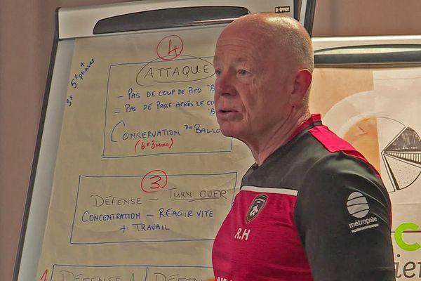 Richard Hill lors d'une séance de travail avec l'équipe de rugby de Rouen - Archives