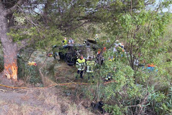 Sur place, 12 véhicules sont intervenus dont deux hélicoptères
