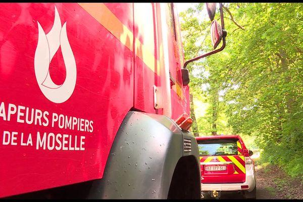 """Exercice """"feux de forêt"""" à Forbach, vendredi 11 juin 2021."""