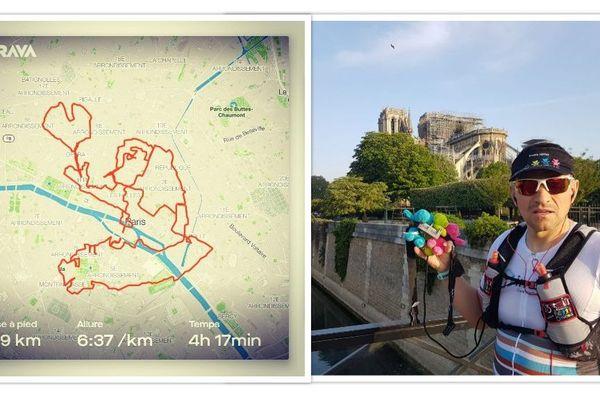 Quasimodo qui voit son coeur s'envoler par Nicolas Verdès en hommage à Notre-Dame de Paris