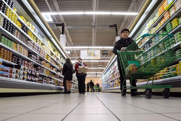Un supermarché en Franche-Comté (photo d'illustration)