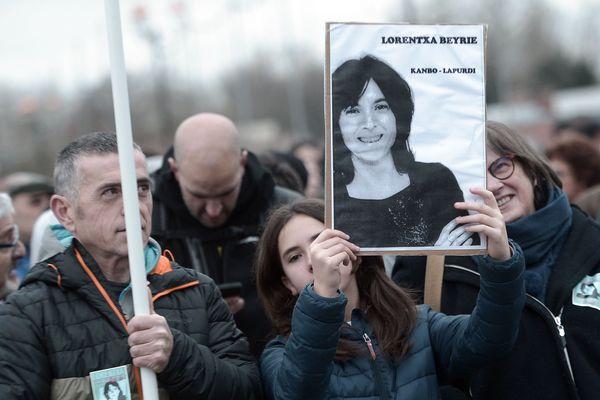 Une manifestation de soutien à l'ex-militante d'ETA Lorentxa Beyrie.
