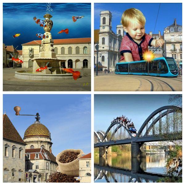 Toutes sortes d'objets ou personnages s'invitent dans les rues de Besançon