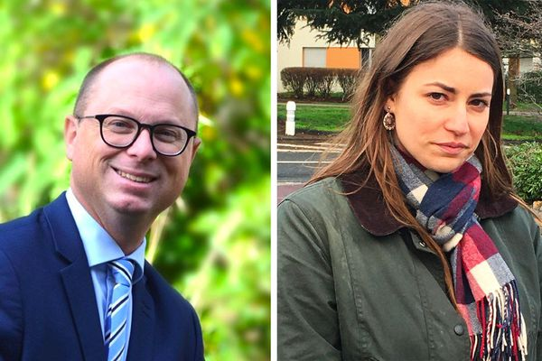 Nicolas Rouly (PS), à gauche, l'emporte largement sur la candidate d'extrême droite à Grand-Quevilly
