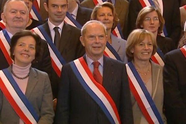 Antoine Rufenacht a été le maire du Havre de 1995 à 2010. Sur la photo, derrière lui, Edouard Philippe.