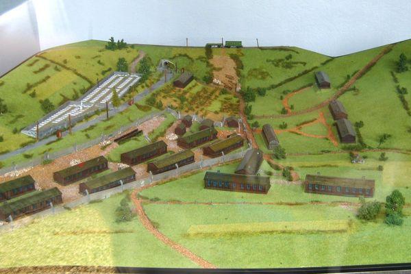 La maquette du camp de concentration de Thil (54).