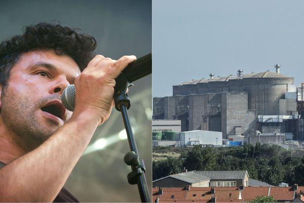 Romain Humeau (Eiffel) chante la peur d'une catastrophe nucléaire à la centre de Gravelines.