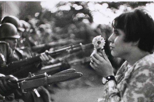 La fille à la fleur de marc Riboud