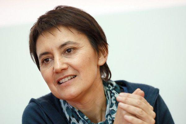 Nathalie Arthaud, porte-parole de Lutte ouvrière et tête de liste en Ile-de-France au Régionales de 2015.