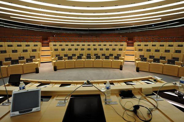 L'hémicycle du conseil régional à Lille.