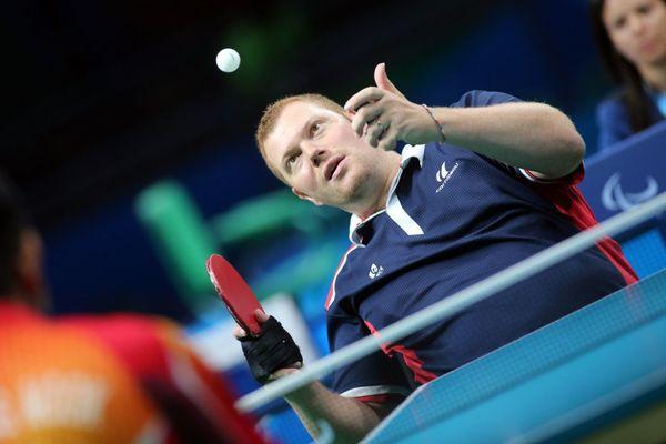 Fabien Lamirault, 41 ans,para tennis de table