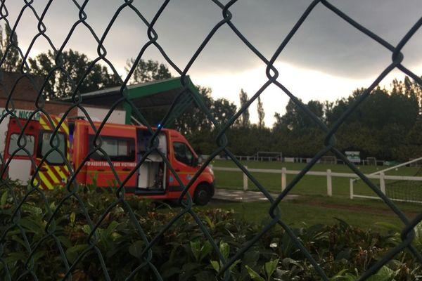 C'est sur le terrain du stade de la Scarpe que les enfants ont été frappés par la foudre.