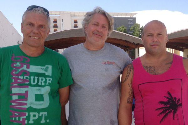 La triplette Sweet composé de Marco Gouast, Alec Sweet et de Sébastien Astier