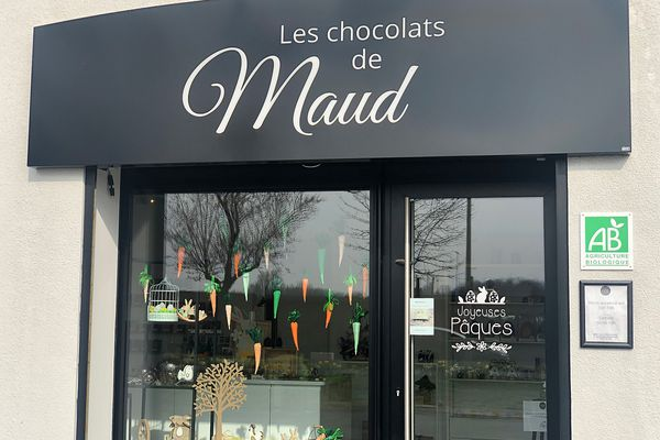 La chocolatière s'est installée en 2019, à Saint-Brice-Courcelles.