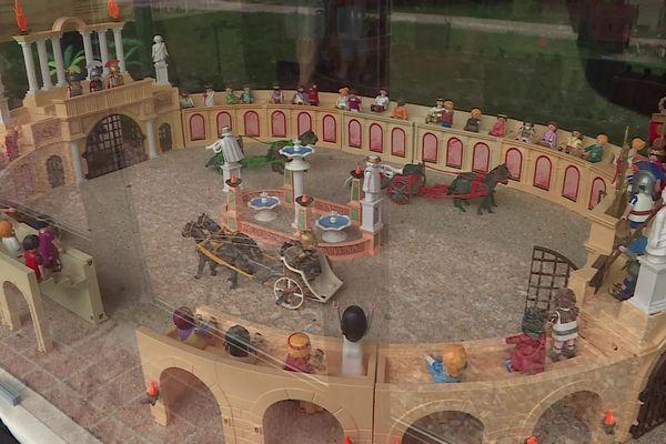 Août 2021 : exposition de Playmobil® au centre gallo-romain Gisacum du Vieil-Evreux (Eure)