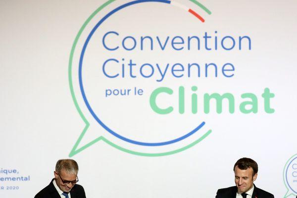 Le président Emmanuel Macron, à la convention citoyenne pour le climat, le 10 janvier 2020.