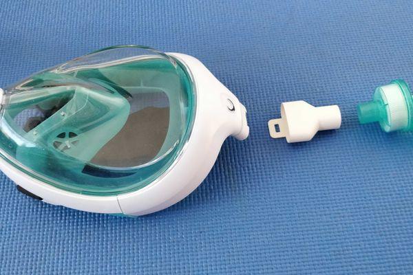 Bic a conçu un adaptateur pour les masques Décathlon destinés aux personnels soignants