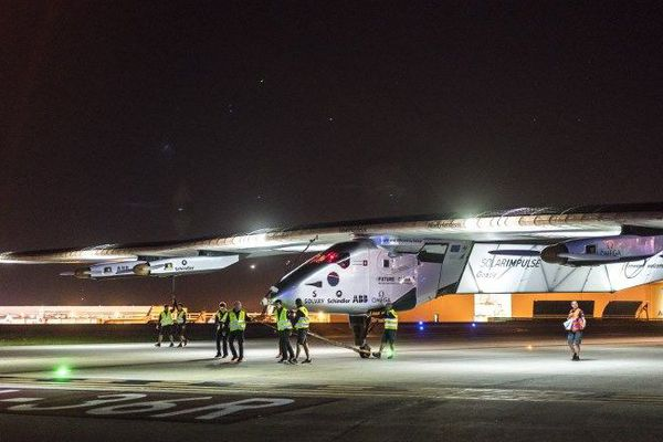 Piloté par le Suisse Bertrand Piccard, Solar Impulse a quitté l'aéroport de Dayton et se dirige vers la Pennsylvanie