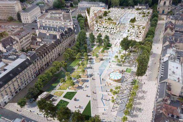 Le projet de réaménagement de la place de la République retenu par la mairie de Caen