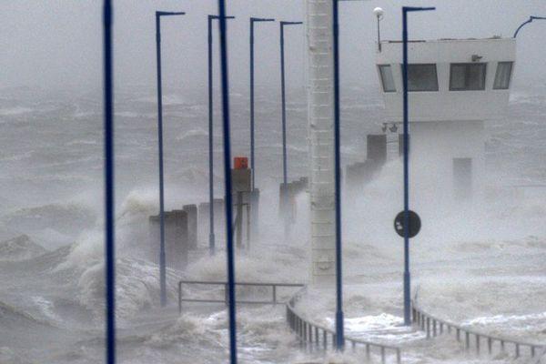 Une image de la tempête Xaver en Allemagne, ce jeudi.