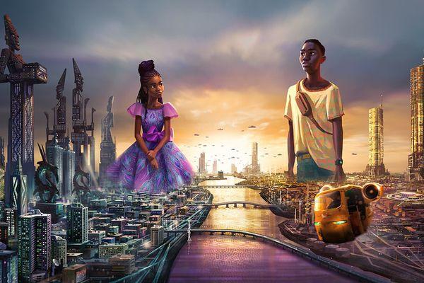 Des images d'une série Disney et Kugali en avant-première durant le festival.
