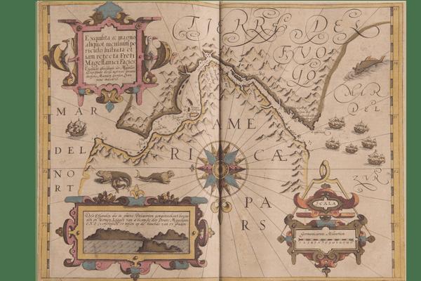 Une carte du Mercator représentant le continent américain