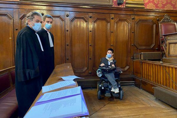 Kevin Fermine lors de l'audience à la Cour d'appel de Bordeaux le 8 octobre 2021
