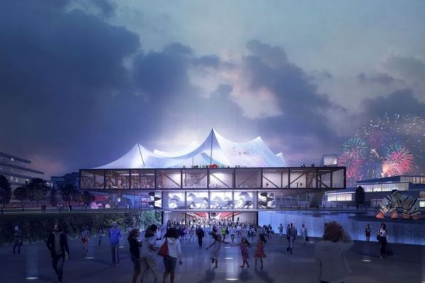 """Un projet de cirque """"contemporain"""", à EuropaCity (vue d'artiste)."""
