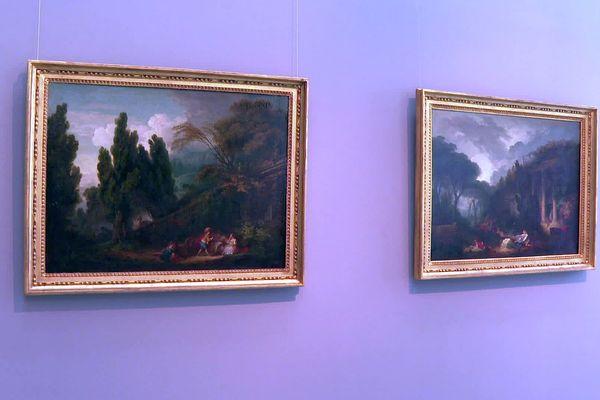Les deux tableaux de Jean-Honoré Fragonard sont accrochés aux cimaises du musée Fabre depuis le 22 juillet 2021.