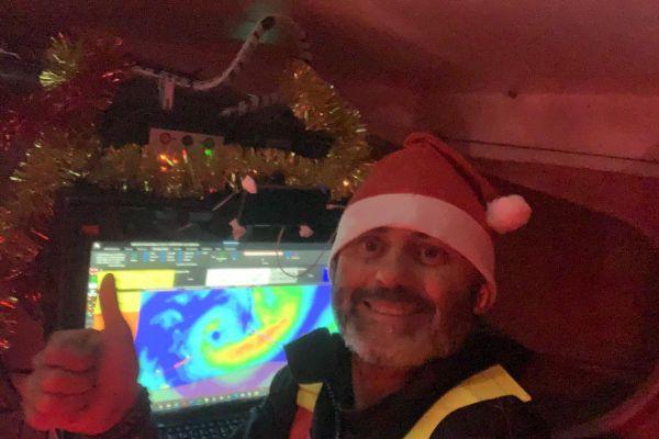 À bord du bateau Maître Coq IV le 24 décembre dernier.