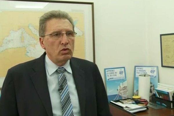 Marc Dufour, président de la SNCM, le 10 janvier