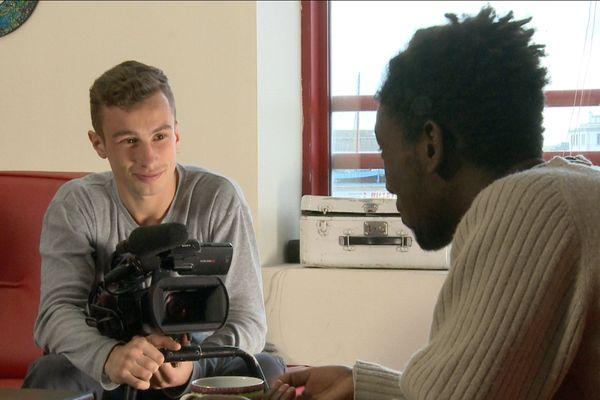 Au cours d'une séance de tournage, Brest