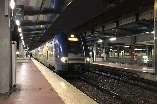 Un TER en gare de Metz.
