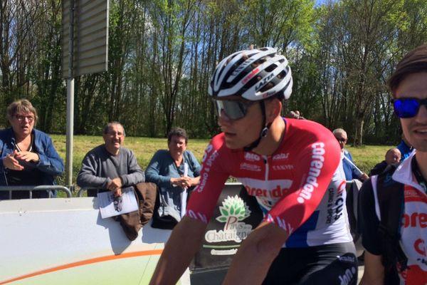 Mathieu Van Der Poel, après son sprint victorieux à la Châtaigneraie