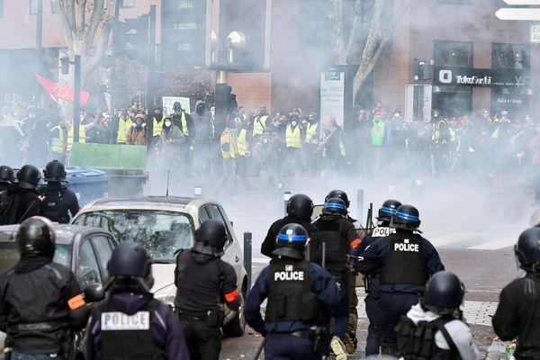 Lors d'une manifestation des Gilets jaunes à Toulouse, en décembre 2018.