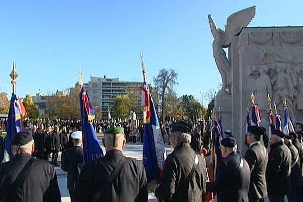 Les cérémonies du 95e anniversaire de l'armistice de 1918, à Dijon