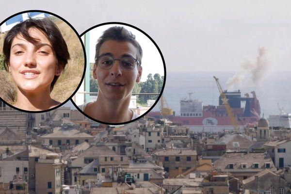 Lorella et Alex ont enquêté pour comprendre d'où vient la pollution à Marseille et à Gênes.