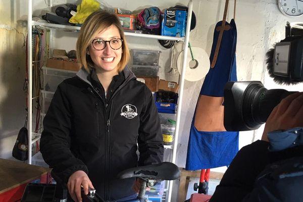 Mélanie Leroux, offre une nouvelle vie aux bicyclettes de papi et Mamie