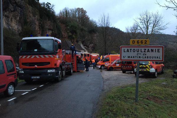 L'incident s'est produit sur la commune de Saint Martin de Labouval (Lot) située le long du Lot.