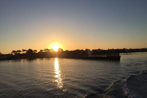 Lever de soleil en rade de Lorient