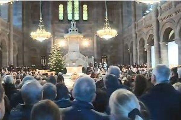L'église protestante du Temple Neuf était comble ce jeudi matin.