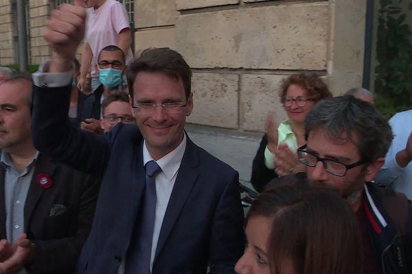Nicolas Mayer-Rossignol, le soir de la victoire