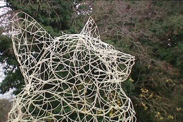 L'Evidence, sculpture de Thomas Monin à Cazvieille - Pic Saint-Loup