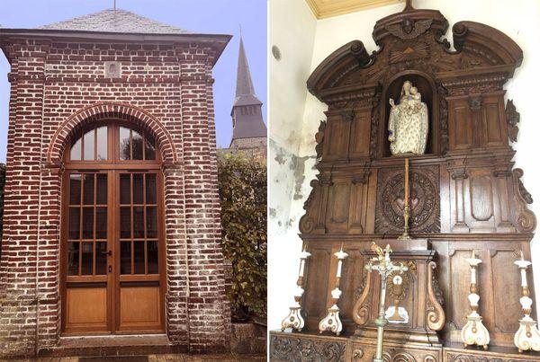 La chapelle au retable, dédiée à Notre-Dame-de-la-Consolation